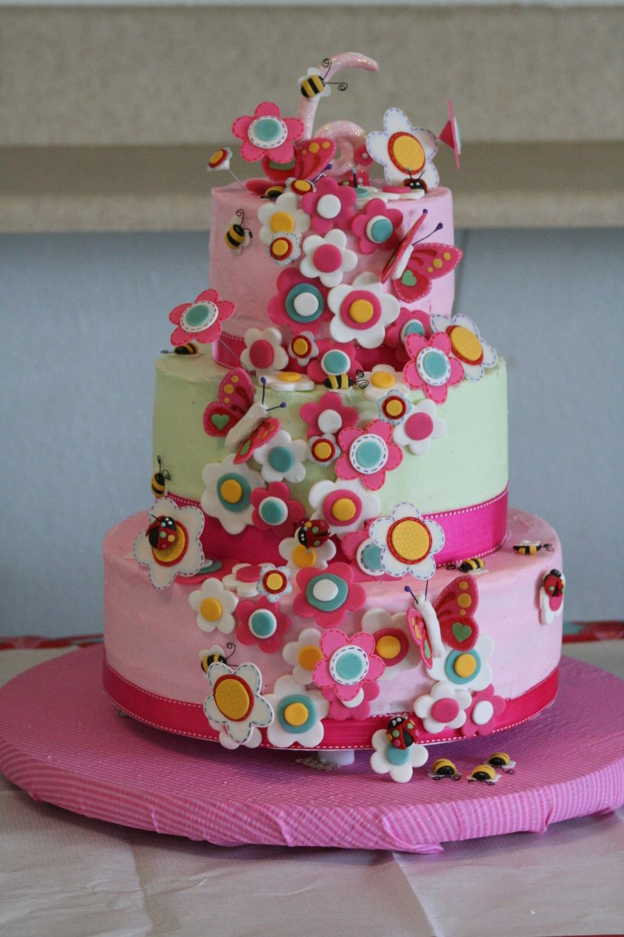 Garden Girl Birthday Cake girls cakes Pinterest Girl birthday