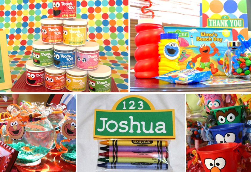 Sesame Street Birthday Party Ideas Favors And Activities