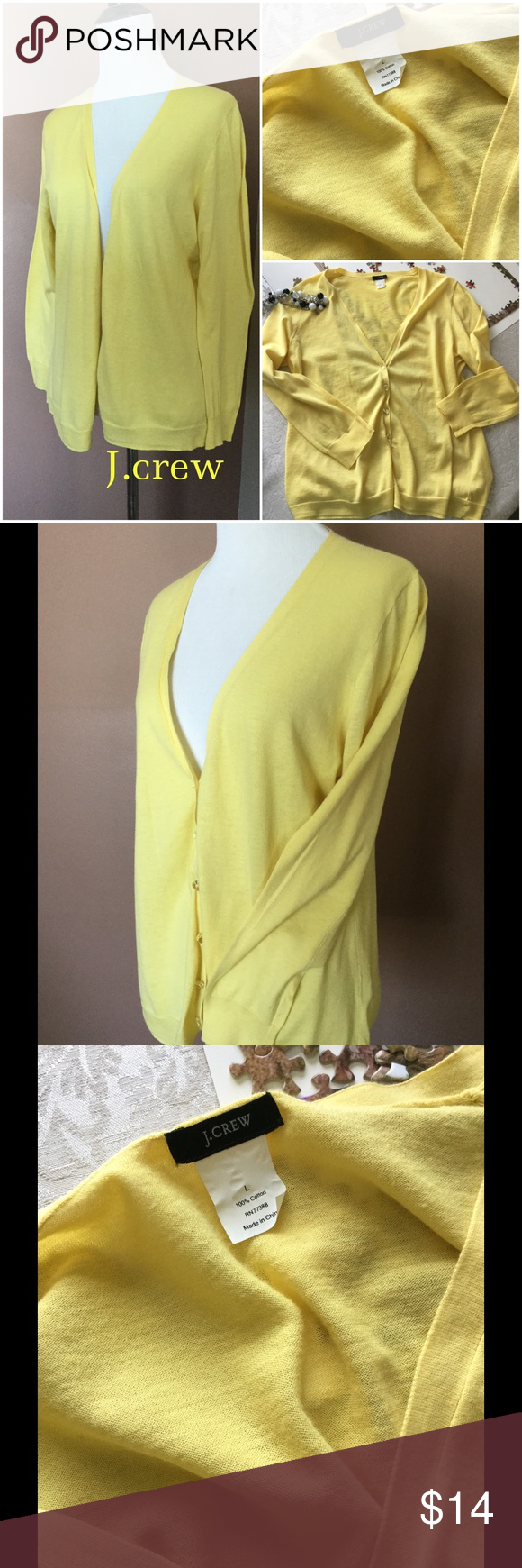 J.CREW Yellow Summer Cardigan ! ⭐️