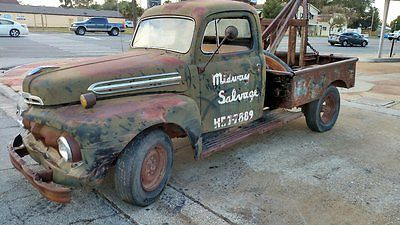 1951 Ford F3 Salvage Yard Tow Truck Deluxe Cab 5 Star Tow Truck Ford Trucks Tow Truck Trucks