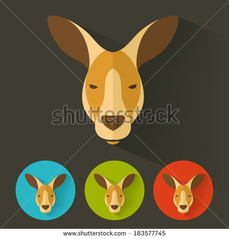Kangaroo Geometric Stock Photos Images Pictures Kangaroo Illustration Pet Logo Design Animal Logo