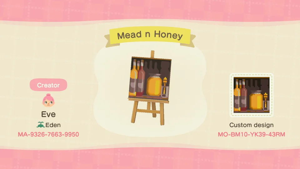 Working On An Orchard Honey Farm Combination And Needed Bee Product Shelves Here S Some Mead And Animal Crossing Animal Crossing Town Tune New Animal Crossing