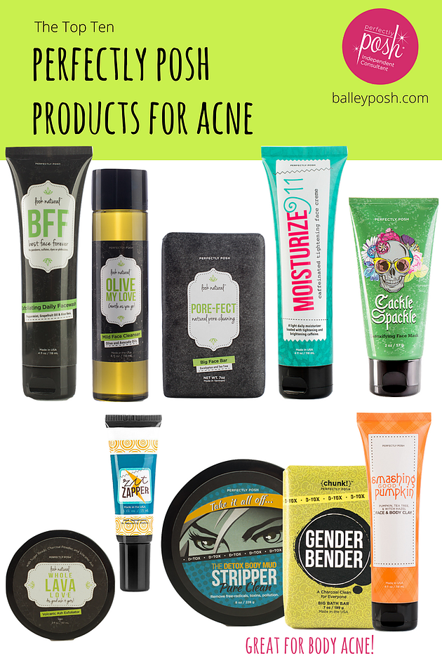 The Top 10 Perfectly Posh Products For Acne Acne Treatment