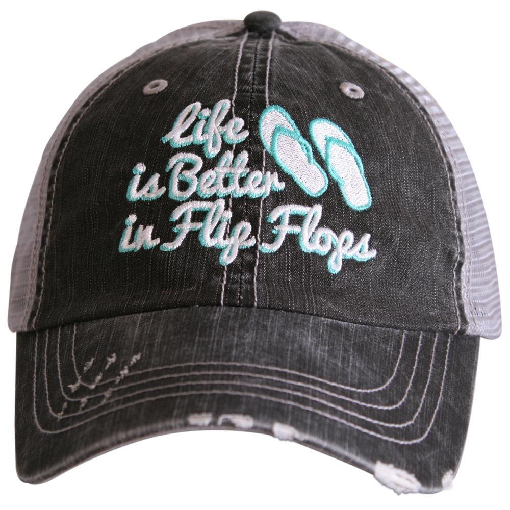 Life Is Better In Flip Flops  Women's Trucker Hat | Trucker Hats