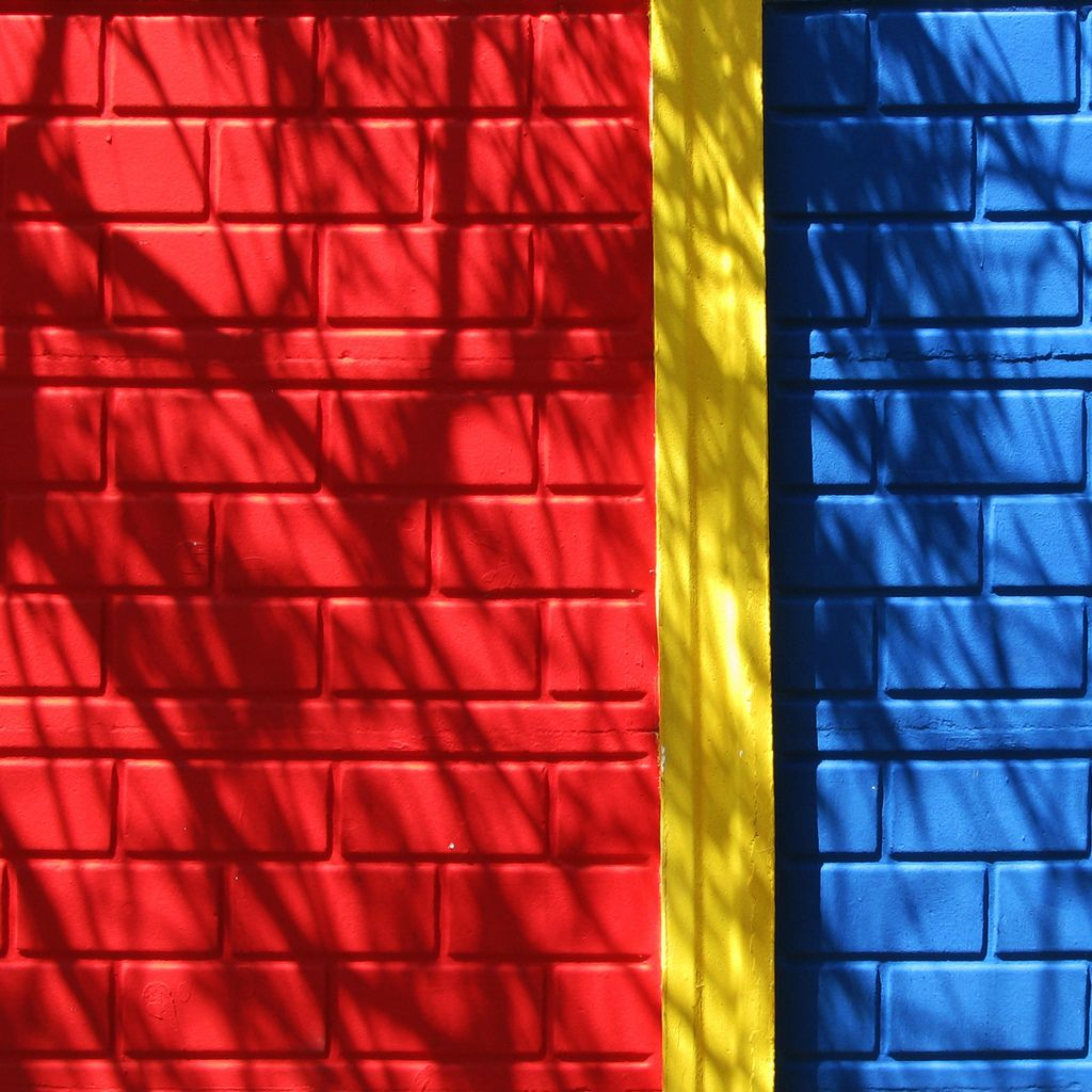 Shadows On Red Yellow And Blue