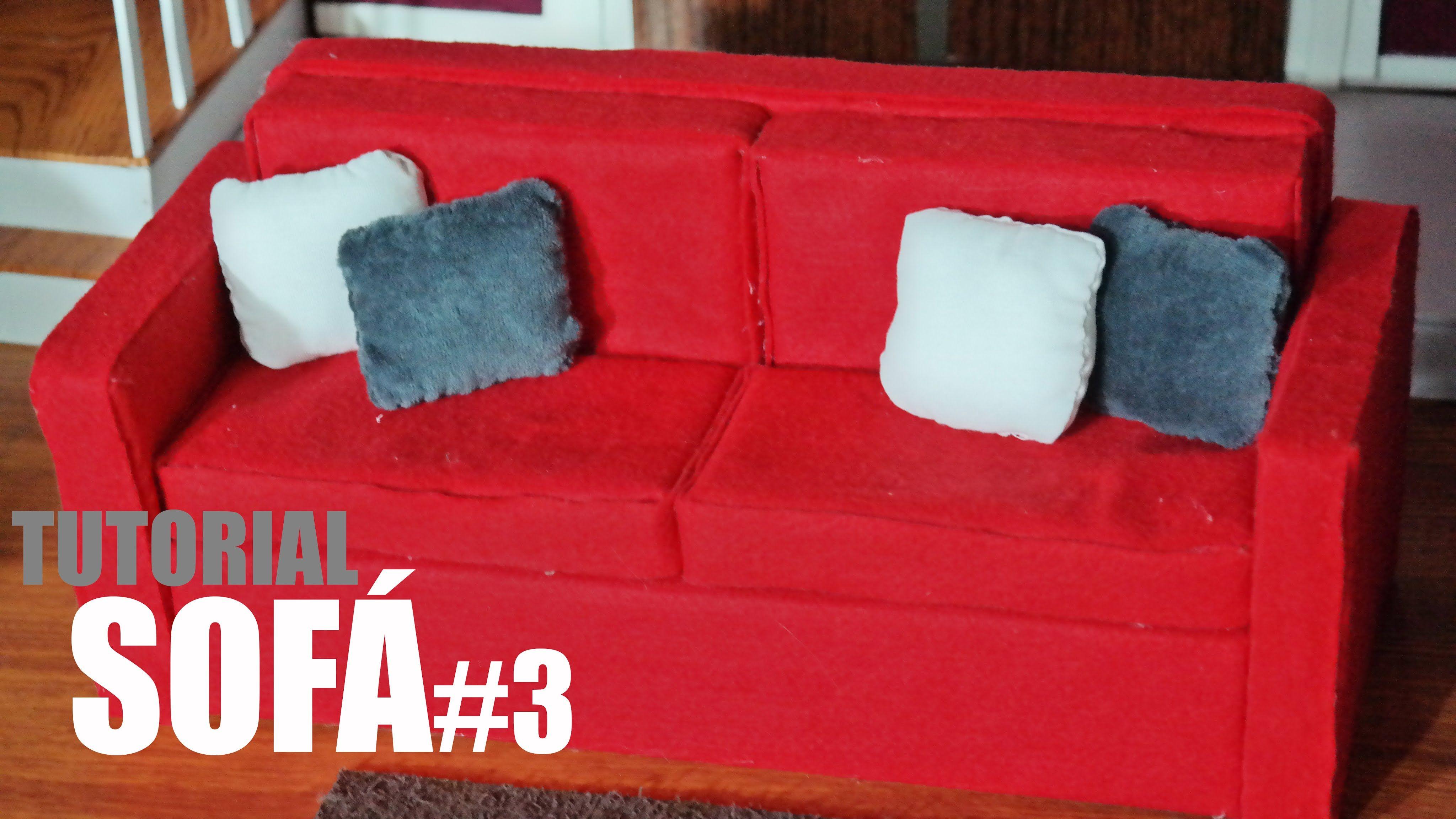 Tutorial Barbie - Como fazer um Sofá #3 para sua Barbie, Monster High, E...