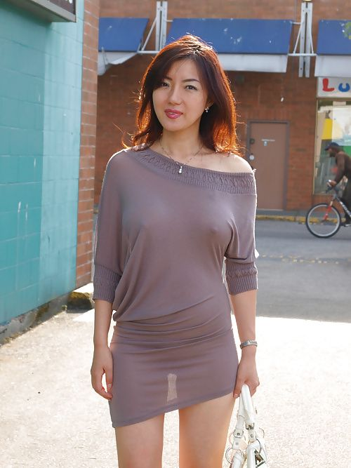 Asian girls with see through cloths
