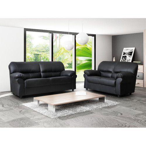 Candy 2 Piece Living Room Set Bel Etage Colour Black Couches Living Room Sofa Set Living Room Furniture