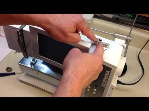 Bernina bobbin winding and bobbin tension  - YouTube [How to
