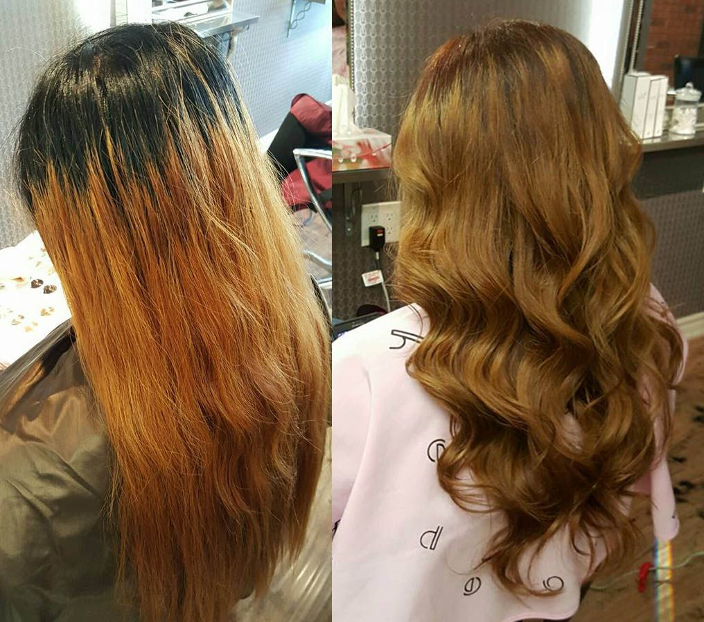 Sample Pictures Of The Customer Who Had Hair Color At Momo Hair