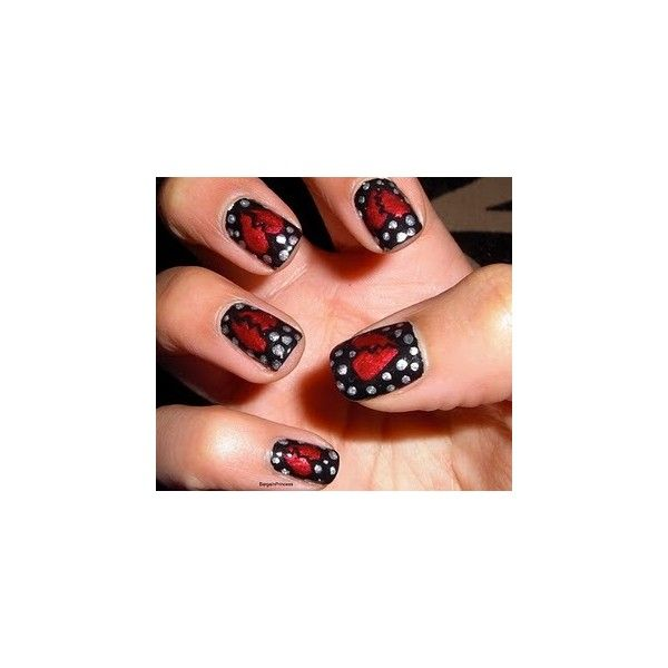 Love the broken heart.  May have to use this theme one day.  Nail Art found on Polyvore
