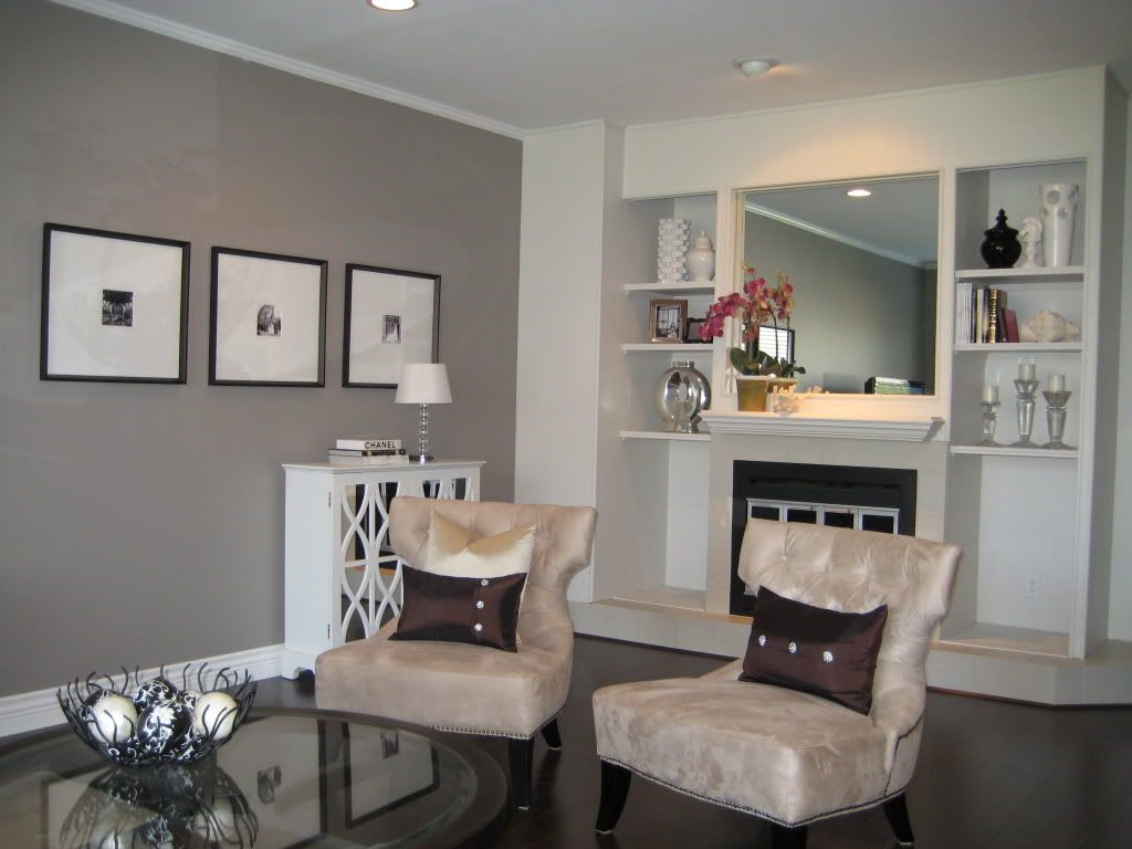 After 2 living room the wall color is benjamin moore 39 s - Grey paint living room ...
