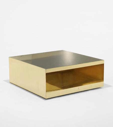 JOSEPH D'URSO, custom-ordered low rolling table, 1981