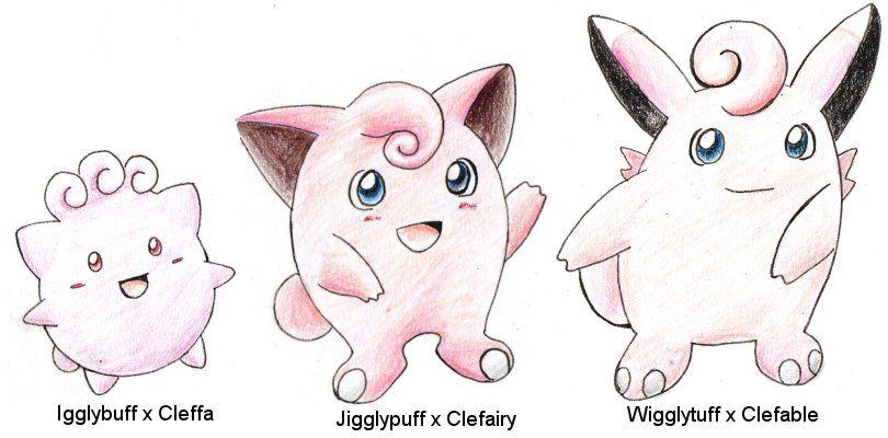Crossbreeds:JigglypuffClefairy by ShrubSparrow