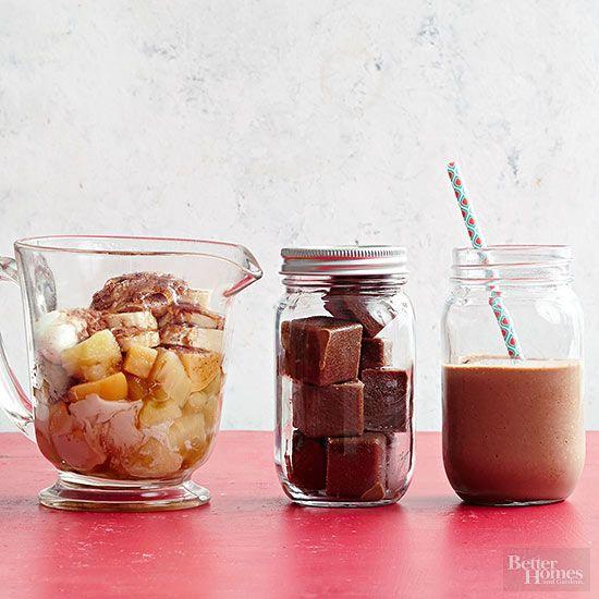 mocha almond smoothies recipe mason jar meals chocolate smoothie recipes high protein vegetarian breakfast pinterest