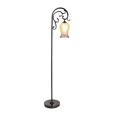 Product Details Downbridge Mercury Glass Floor Lamp Decor In 2019 Glass Floor Floor Lamp