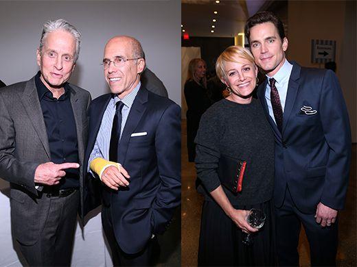 Michael Douglas, Jeffrey Katzenberg, Julie Darmody, Matt Bomer - Getty Images  Motion Picture and Film Foundation