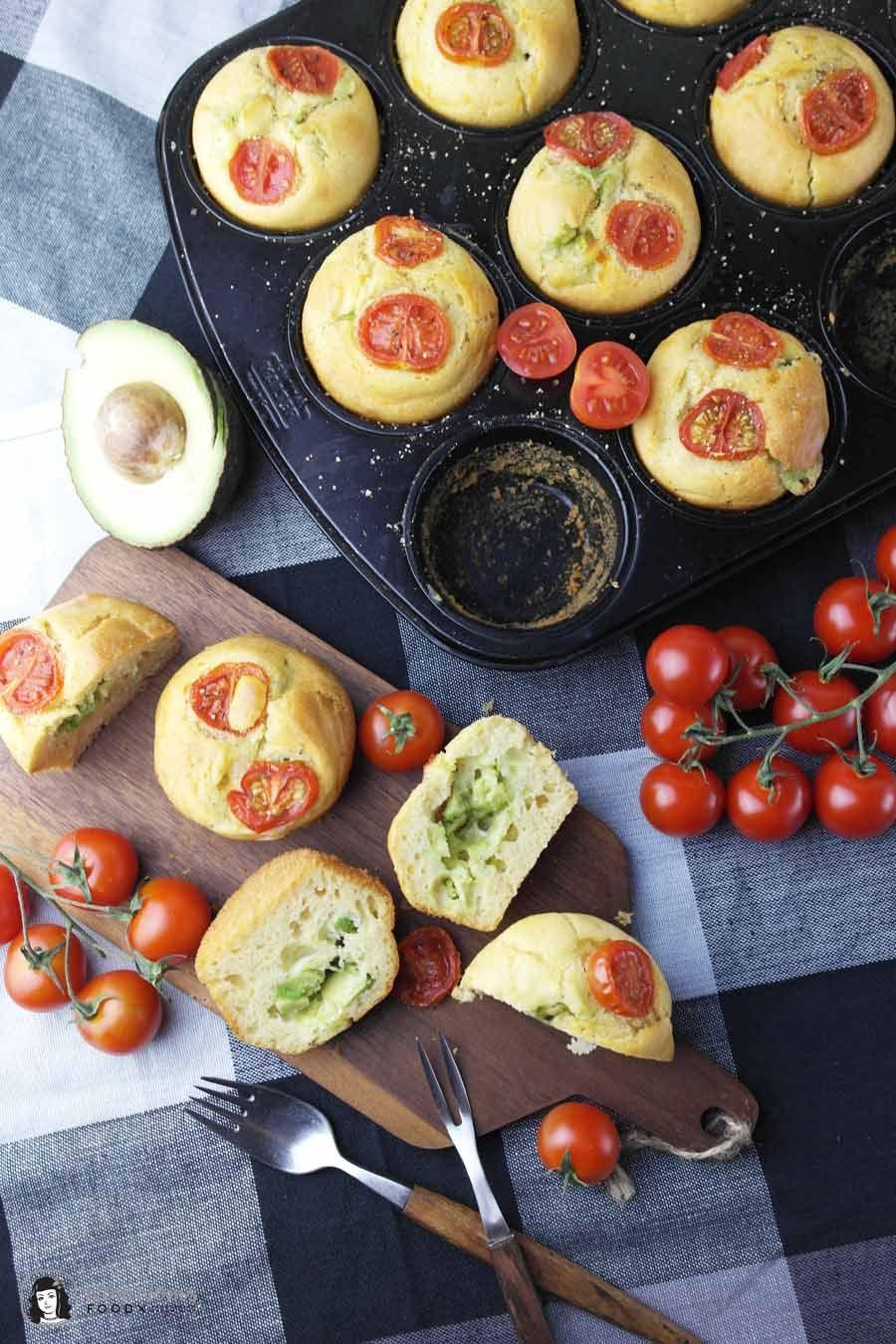Perfekter Snack: Muffins mit Avocado-Käse-Füllung | Rezept ...