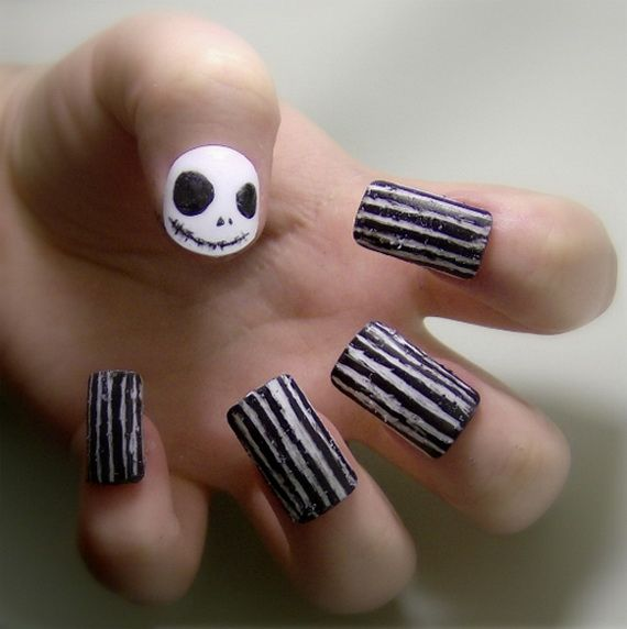 50 Simple, Easy, Spooky & Scary Halloween Nail Art Designs, Ideas 2012 -  family holiday.net/guide to family holidays on the internet. Nightmare  Before ... - 50 Simple, Easy, Spooky & Scary Halloween Nail Art Designs, Ideas
