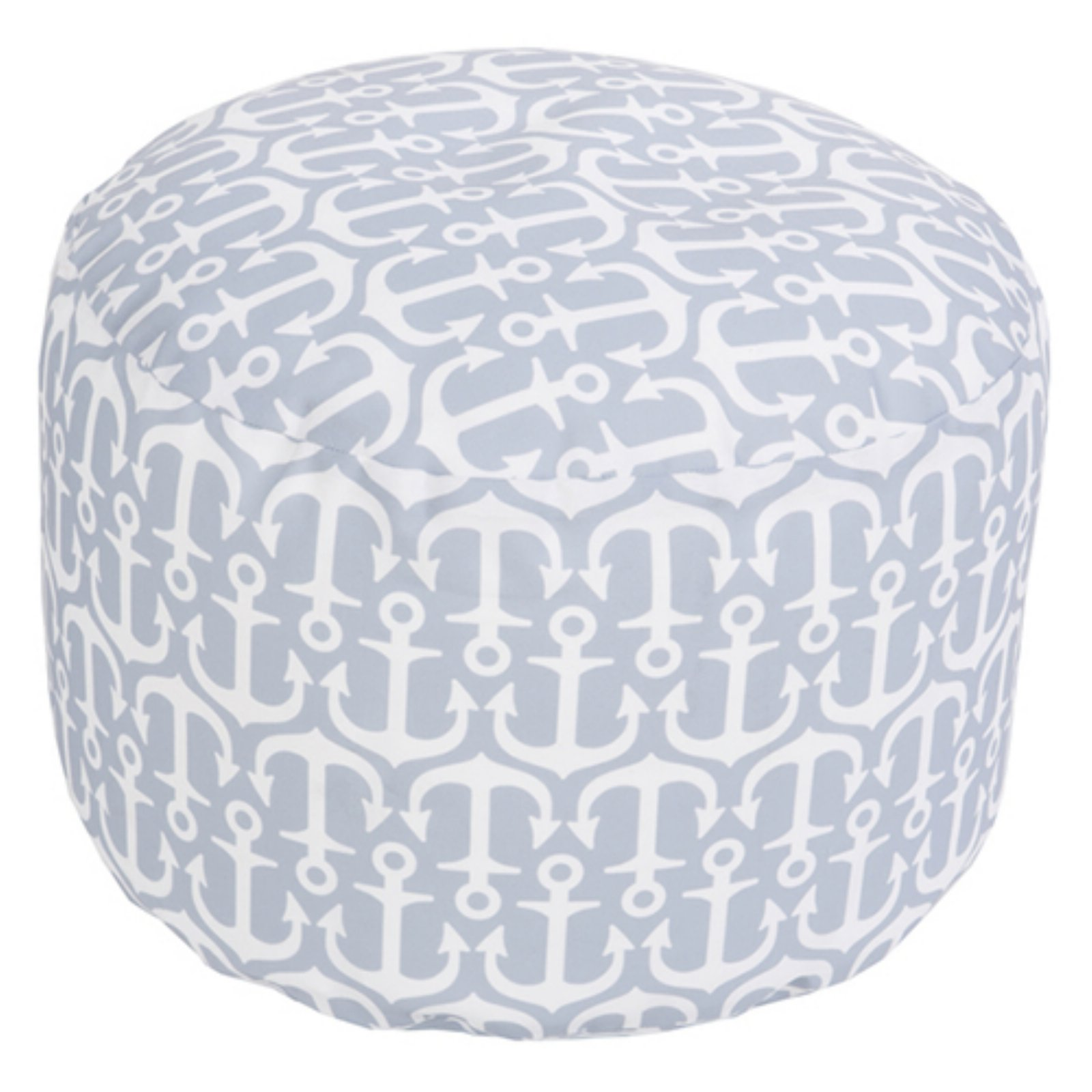 Surya 20 X 20 In Outdoor Anchor Round Pouf Ash Gray Pouf