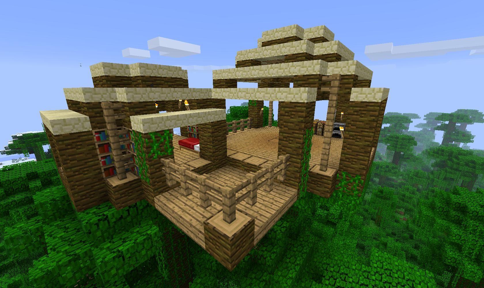 minecraft simple jungle treehouse Google Search Minecraft