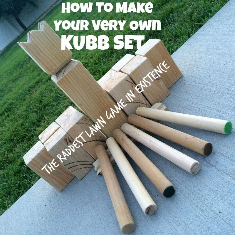 Kubb Is Seriously THE Greatest Lawn Game Ever! So Fun For Kids And Adults.  How To Make Your Very Own Kubb Set / Tutorial / DIY