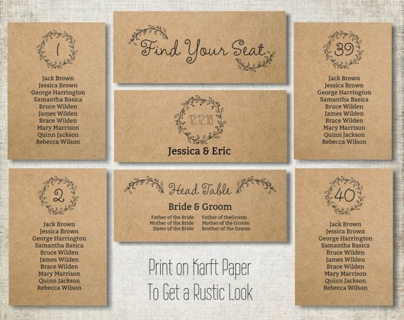 Wedding Seating Chart Template Wedding Guest List Header Signs And - Wedding invitation templates: seating chart template wedding