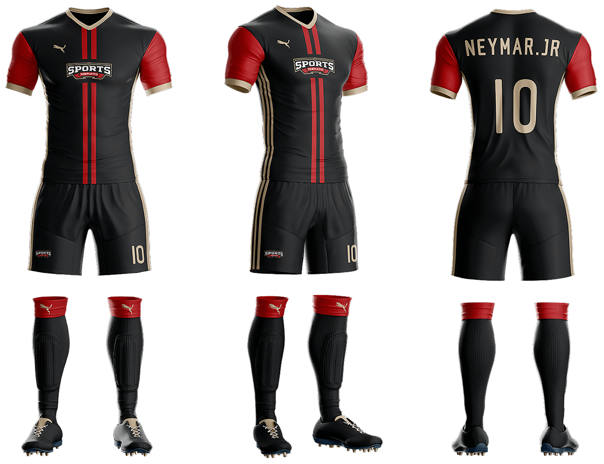 Goal Soccer Kit Jersey Uniform Template Psd Sports Mockups Psd