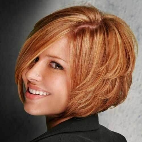 50 remarkable short haircuts for round faces #shortlayeredhaircuts