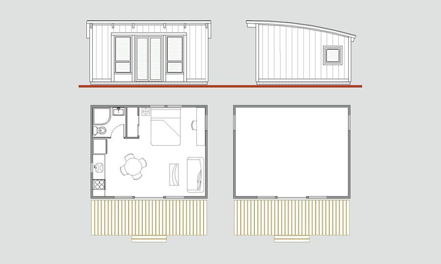 16x20 floorplan. By Cabin Fever [amazing company, great ...