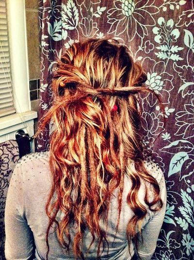 Pin By Adrianna Beaver On Hair Styles Partial Dreads Hippie Hair Hair Styles
