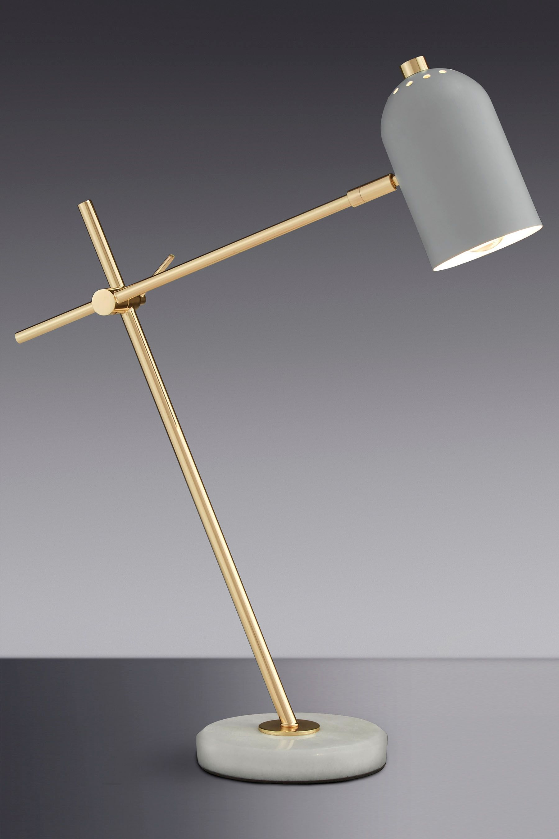 Marble And Br Task Table Lamp