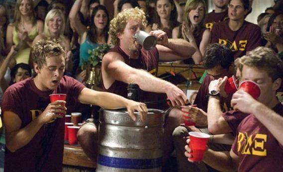 Partying frat boys get hazed