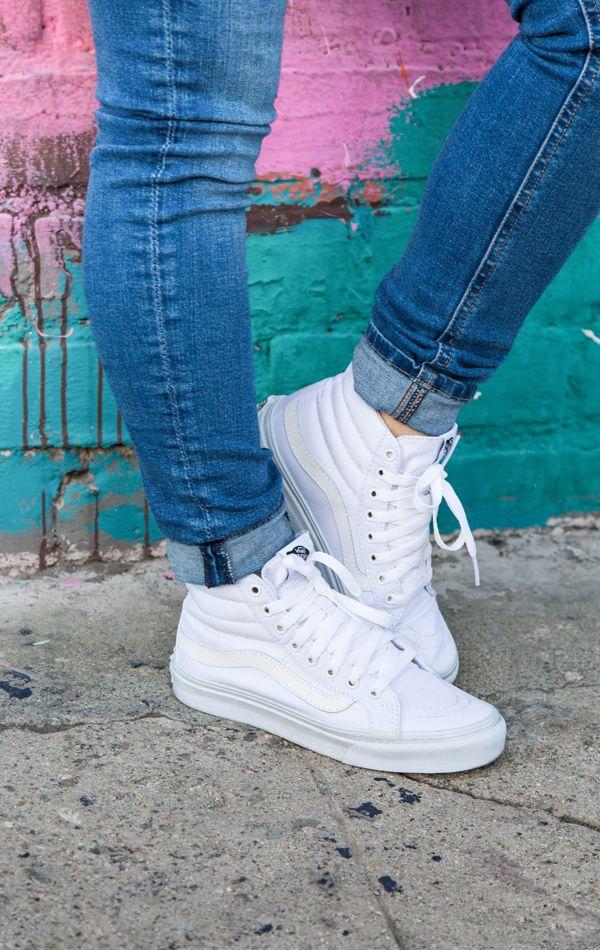 4979fbc768f Vans Sk8 Hi True White Vans Sneakers