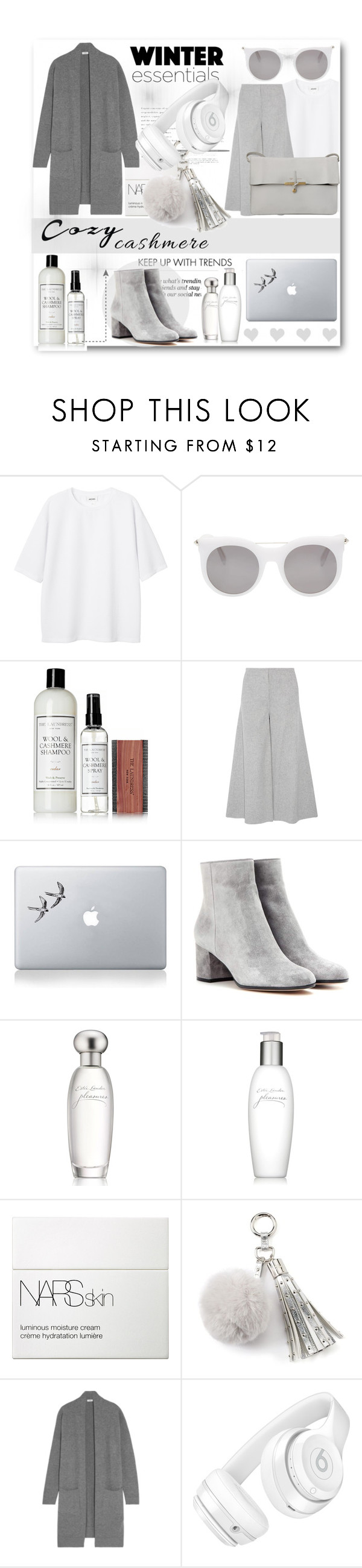 """""""Cashmere"""" by dobrescu-dana ❤ liked on Polyvore featuring Erdem, Monki, Alexander McQueen, The Laundress, Theory, CÉLINE, Vinyl Revolution, Gianvito Rossi, Estée Lauder and NARS Cosmetics"""