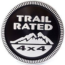 Auto Car Trail Rated 4x4 For Jeep Nameplate Emblem Wrangler Decal