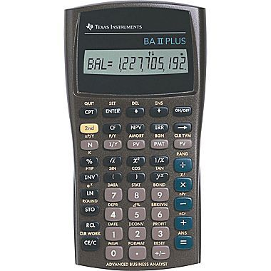 Texas Instruments® BA II PLUS™ Financial Calculator Wishes - financial calculator