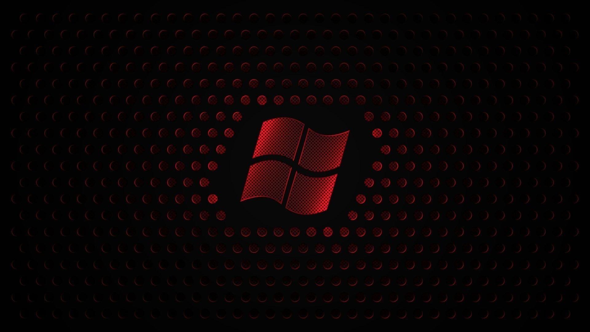 Windows Logo Illustration Microsoft Windows Windows 7 Black Red 1080p Wallpaper Hdwallpaper Deskt Snowman Wallpaper Red And Black Wallpaper Red Wallpaper