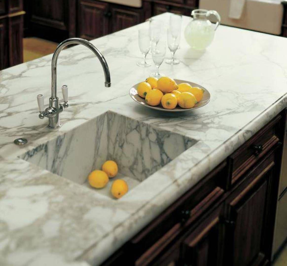 Kitchen Countertops And Sinks: Kitchen , Best Kitchen Countertops Options : Marble