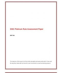 disc platinum rule assessment