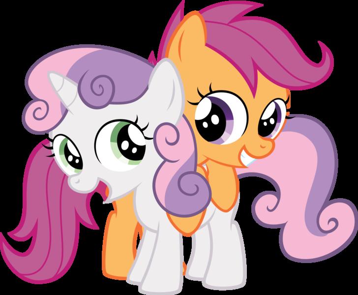 Scootaloo#Sweetie#belle#hug#cute#adorable##My# Little#Pony# Friendship#is#  Magic#   Sweetie belle, My little pony cartoon, Sweetie