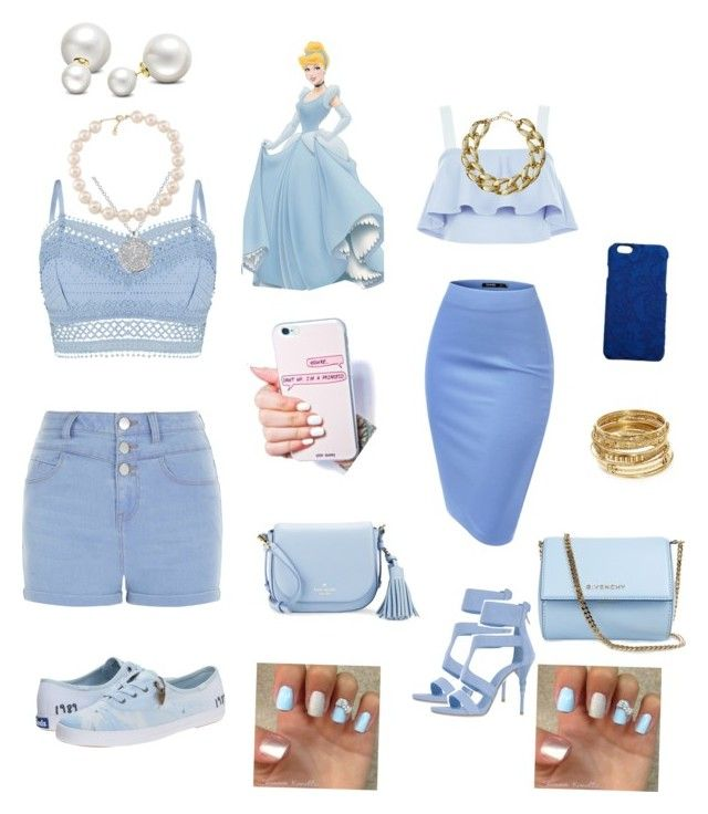 """""""Modern day Cinderella"""" by faaliyah49 ❤ liked on Polyvore featuring Lipsy, Anne Sisteron, New Look, Le Silla, Keds, Kate Spade, Givenchy, Carolee, Allurez and Kenneth Jay Lane"""