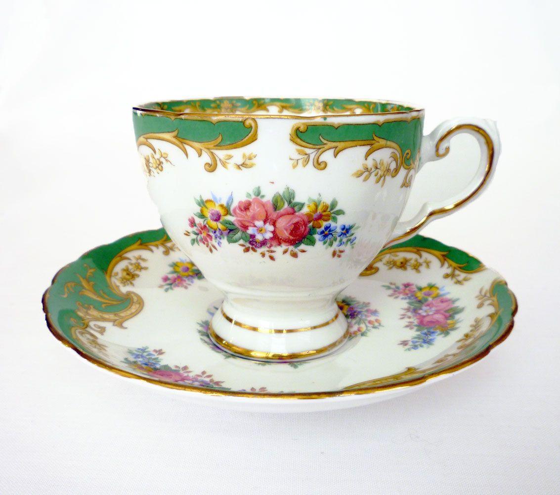 Tuscan Teacup Naples Tea Cup And Saucer English Bone China  ~ Tazas Para Infusiones El Corte Ingles
