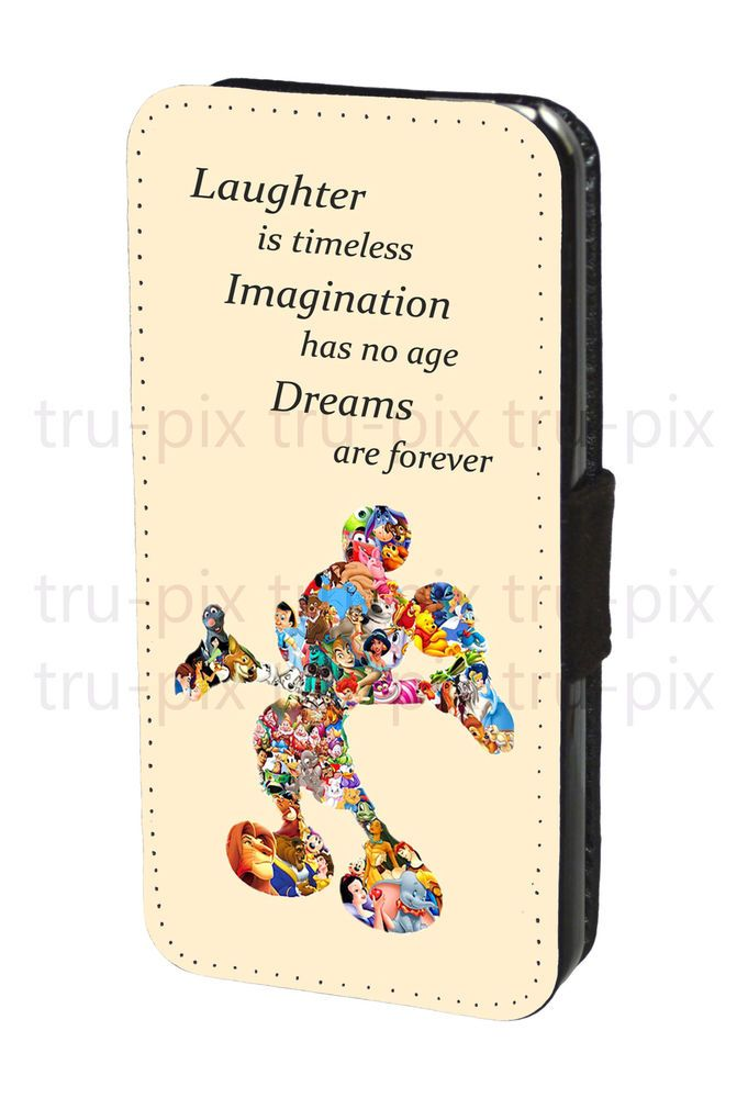 Walt Disney Quote Mickey Mouse Faux Leather Flip Wallet Phone Case ...
