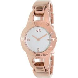 eb46d7b20ed Armani Exchange Women s AX4091 Rose-Gold Stainless-Steel Quartz Watch with  Silver Dial - product - Product Review