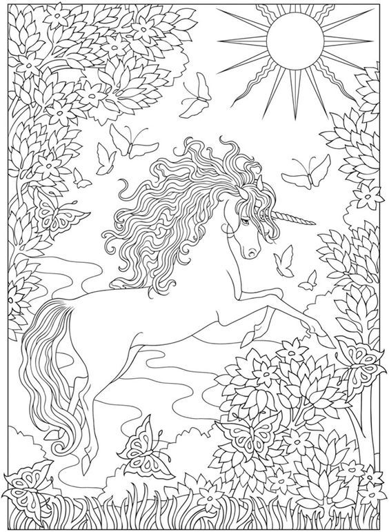 Creative Haven Unicorns Coloring Book Free Printable Coloring