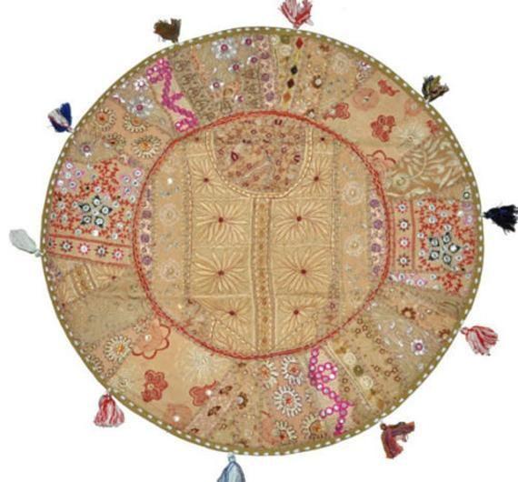 "Large floor cushion ""BOHEMIAN MASALA"" decorative cushion cover,meditation cushion,colorful boho floo"