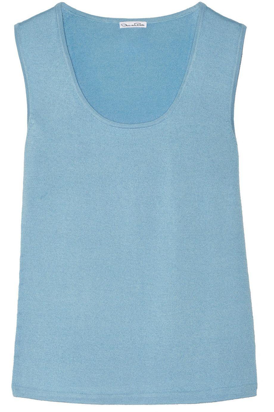 OSCAR DE LA RENTA Cashmere And Silk-Blend Top. #oscardelarenta #cloth #top