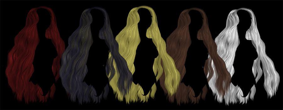 Long Wavy Hair Png Stock By Demoncherrystock Deviantart Com On Deviantart Long Wavy Hair Hair Png Wavy Hair