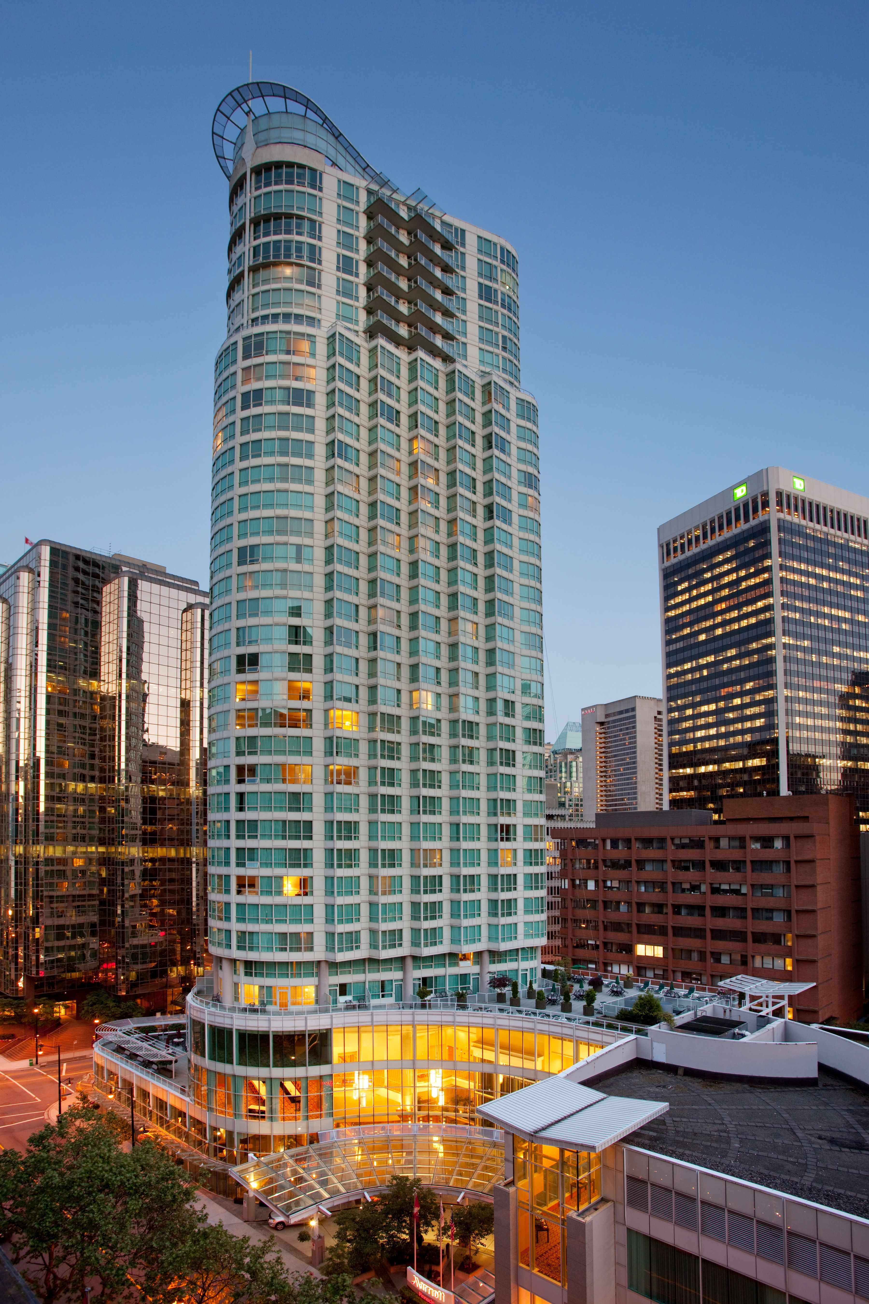 Vancouver Marriott Downtown Hotel In Bc Located The Heart Of S Coal